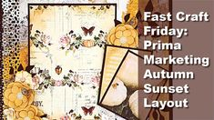 Fast Craft Friday: Prima Marketing Autumn Sunset Scrapbook Layout - YouTube Page Layout, Layouts, Blue Yeti Microphone, Scrapbook Pages, Scrapbooking, Social Media Outlets, Prima Marketing, Distress Ink, Tim Holtz