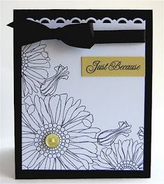 Black and white card - Papertrey Ink stamp