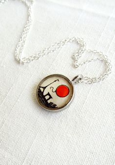 """Red Balloon Necklace Art Pendant  """"Le Ballon Rouge"""" by SarahLambertCook, $25.00"""