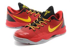 "Nike Zoom Kobe Venomenon 4 ""YOTH"" Mens Red/Black/Yellow NBA Sports Shoes"