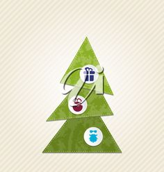 iCLIPART - Clip Art Illustration of a Christmas Tree with Decorative Icons