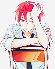 Red-haired anime boys are adorable... Especially when they're Akashi... -w- (I still love you, Sasori! :3)