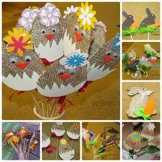 Děti na jarmark vyráběly velikonoční zápichy,   moc se jim povedly...
