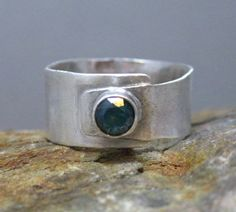 Faceted Blue Topaz and Sterling Silver Artisan by stoneandsterling, $75.00