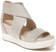 bbf317dae Original Collection By Dr. Scholl's Scout Metallic Leather High Wedge  Sandals