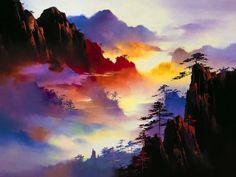 Risultati immagini per tipos de pintura em tela Art Aquarelle, Art Watercolor, Watercolor Landscape, Landscape Art, Landscape Paintings, Impressionist Landscape, Acrylic Paintings, Beautiful Paintings, Beautiful Landscapes