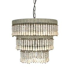 Beads are a must-have for any bohemian home. So why not go big and light it up with this beaded chandelier?  Find the Just Bead It Chandelier, as seen in the The Sailors' Saloon Collection at http://dotandbo.com/collections/the-sailors-saloon?utm_source=pinterest&utm_medium=organic&db_sku=92472