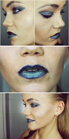Blue and sapphire makeup