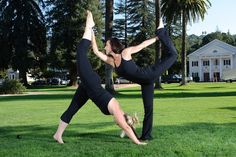 Cool yoga pose