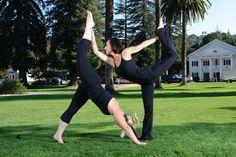 Cool Couple Yoga Pose