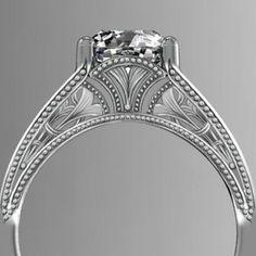 Beautiful. Deco Ginkgo Filigree Ring by Silver Bonsai Gallery,LLC dba Holton Stewart Designs