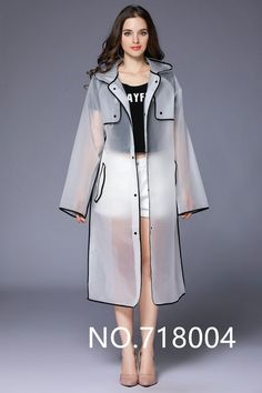 Rain coat Fashion Show - - - - Rain coat Street Style Casual - Warm Rain coat For Women Raincoat Outfit, Raincoat Jacket, Hooded Raincoat, Yellow Raincoat, Long Raincoat, Rain Jacket, Clear Raincoat, Raincoats For Women, Jackets For Women