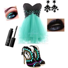 """""""Love this whole outfit for a masquerade ball! Especially the heels!"""" by fashionistafalish on Polyvore"""