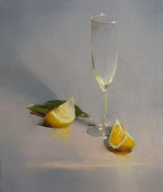 Glass with Lemon Slices II by Carol Tarzier