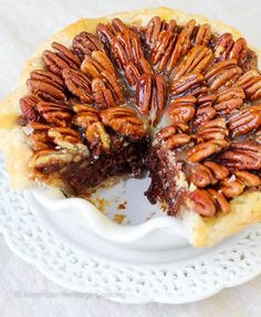 Salted Caramel Chocolate Pecan Pie   Pure decadence! You'll love this sweet Southern twist on a pecan pie!