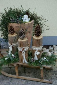 Enchant your garden in the style of autumn and winter with these… – Chritmas – Deko – Best Crafts Christmas Crafts, Christmas Decorations, Christmas Cookies, Christmas Ideas, Christmas Tree, K Om, Winter Stil, Easy Easter Crafts, Fish Crafts
