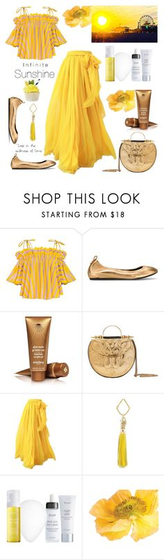 """infinite sunshine"" by felicitysparks ❤ liked on Polyvore featuring Lanvin, Sisley, Okhtein, FOSSIL, Wallflower and Julep"