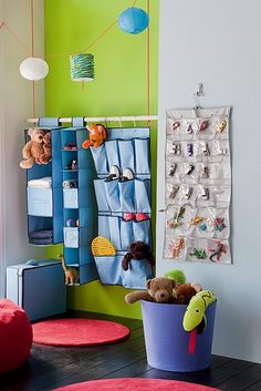 storage solutions for kids' room- love the space saver ideas