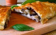 Rotolo di sfoglia con melanzane, ricetta gustosa. http://blog.giallozafferano.it/oya/rotolo-di-sfoglia-con-melanzane-ricetta/