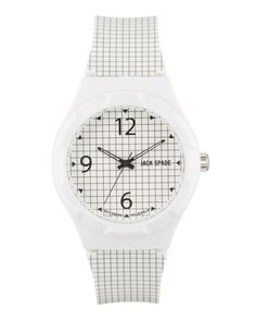Graphic grid print watch