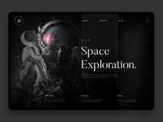 Space exploration webdesign hd
