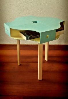 Ikea Hack: 4 Knuff (wooden magazine racks) with legs.