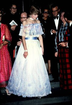 "November 4, 1981: Princess Diana at ""Splendours of the Gonzaga"" exhibition at the Victoria & Albert Museum."