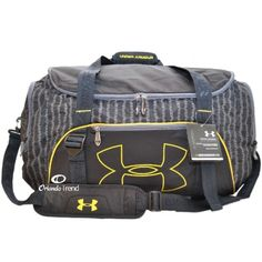 Under Armour Select Duffel Bag in Black and Yellow for $52.00 at OrlandoTrend.com #OrlandoTrend