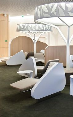 Airport Lounge Simulates An Urban Park To Soothe Harried Flyers: