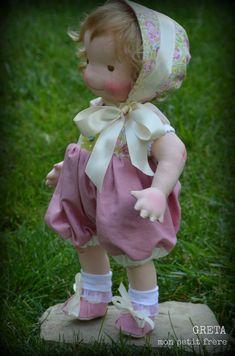 Greta-handmade natural fiber doll by Mon Petit Frère