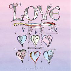 Zentangle Drawings, Doodles Zentangles, Zen Doodle, Doodle Art, Doodle Ideas, Pattern Design Drawing, Love Doodles, Digi Stamps, Lettering