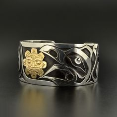 Lattimer Gallery - Kelvin Thompson - Sterling Silver Bracelet with 14k Gold Overlay