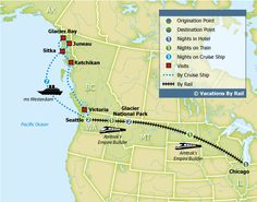 Empire Builder - Glacier National Park & Alaska Cruise