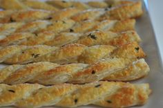 barefoot contessa cheese straws. my go-to fancy appetizer for art shows, book clubs...really stunning.