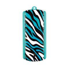 Ativa® Flip-Top USB Flash Drive With ReadyBoost™, 8GB, Zebra Turquoise