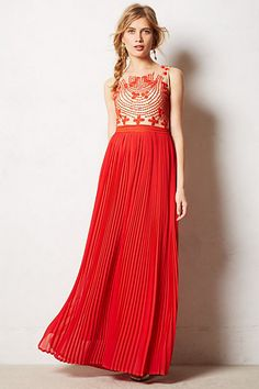 LUST! Rubied Dusk Dress #anthropologie