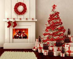 Give your Christmas decoration a festive touch. Try the classic Red and white Christmas decor. Here are Red and White Christmas decor ideas for you. White Christmas Tree Decorations, Christmas Tree Design, Beautiful Christmas Trees, Noel Christmas, All Things Christmas, Christmas Ornaments, Christmas Lights, Gold Decorations, Ornaments Ideas