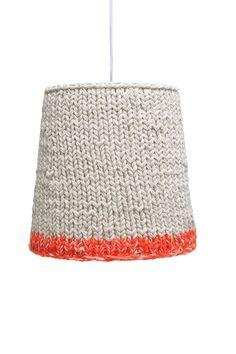 knitted orange neon
