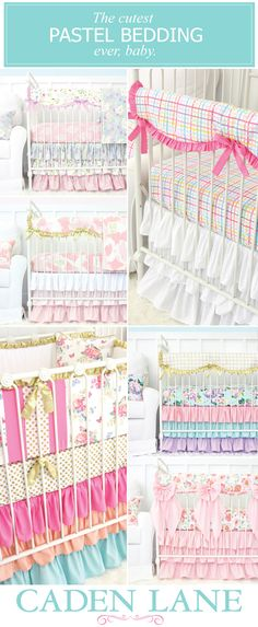 Shop ALL of our pastel crib bedding collections and start designing your dream nursery today! <3