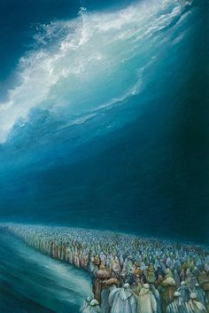 Crossing the Red Sea by Friedrich Hechelmann