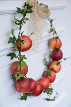 Apple wreath at Homestead Revival: Inspiration Friday: It's Fall Y'all!