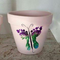 footprint butterflies- adapt for garden stepping stones