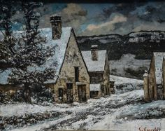 Gustave Courbet - Edge of a Village in Winter, 1868 at Städel Art Museum Frankfurt Germany