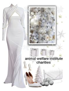 """""""For The Love of Animals"""" by loves-elephants ❤ liked on Polyvore featuring Alexis Mabille, Grandin Road, Lido Pearls, mycharity and hardtochosejustone"""