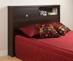 The Espresso Series 9 Designer Headboard offers a unique and versatile solution to bedroom storage and style. Flip-up doors reveal 2 generously sized storage co