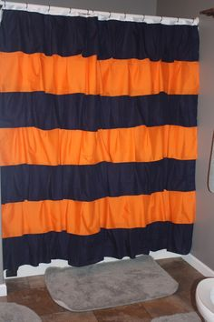 A personal favorite from my Etsy shop https://www.etsy.com/listing/226867541/team-spirit-ruffle-shower-curtain