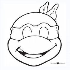 Sablon Ninja teknős maszk a fején a papír: töltse le és nyomtassa ki ingyen