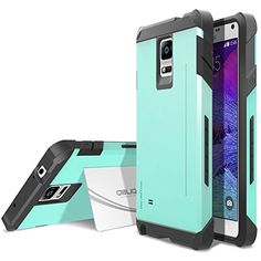 Galaxy Note 4 Case, OBLIQ  with Kickstand Slim Fit Bumper Scratch Resist Metallic Finish Dual Layered Heavy Duty Hard Protection Clear Cover for Galaxy Note 4