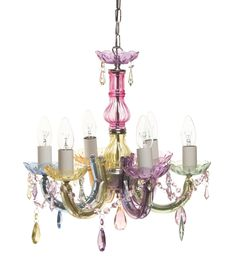 Check out Leitmotiv Marie Therese Pastel Multi-Coloured Chandelier ...