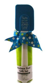 Great Gift Set - Silicone Trivet and Spatula - Taste and See That the Lord Is Good! .